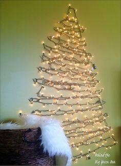 String light and garland wall christmas tree christmas 70 stunning christmas decorations for wall audiocablefo