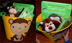 Cute idea for monkey party favors