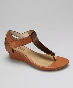Bronze Sun Kissed T-Strap Sandal