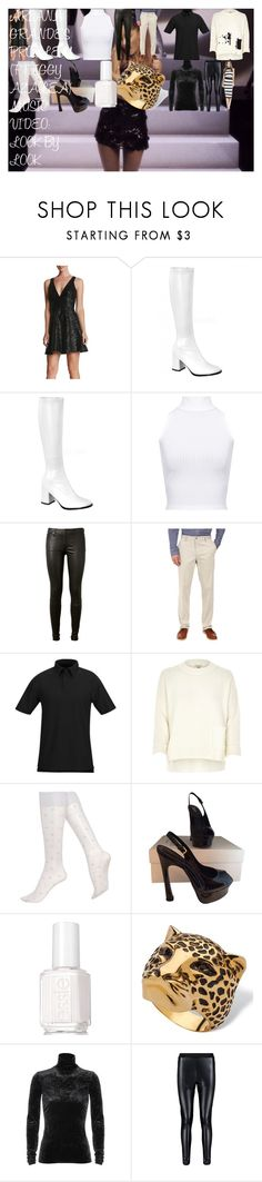ARIANA GRANDE'S 'PROBLEM (FT. IGGY AZALEA)' MUSIC VIDEO: LOOK BY LOOK by oroartye-1 on Polyvore featuring Dress the Population, River Island, WearAll, TIBI, Hue, AG Adriano Goldschmied, Yves Saint Laurent, Palm Beach Jewelry, Propper and Dockers