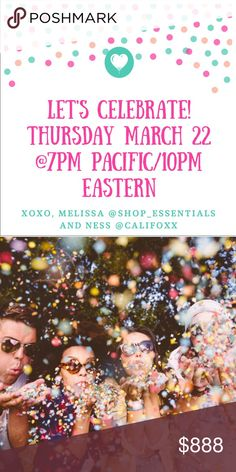 Hosting Party #2 with Ness @califoxx!!! So excited to be hosting party #2 with my amazing PFF Ness @califoxx!   Save the date: Thursday March 22, 2018 @7pm PST/10pmEST  Theme: TBA! I'll be searching for picks, once we have a theme!   So excited! Hope to see you there!!! Other