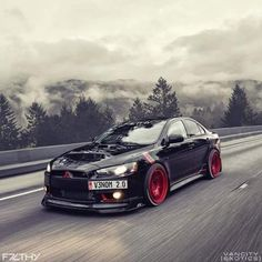Evo X killing it on the Autobahn. Tuner Cars, Jdm Cars, My Dream Car, Dream Cars, Lancer Gts, Mazda, Subaru, Street Racing Cars, Mitsubishi Motors