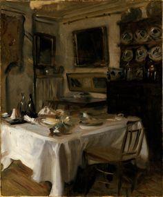 My Dining Room, c.1885 - John Singer Sargent