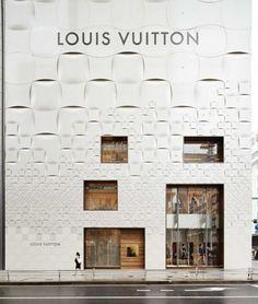 Louis Vuitton Matsuya Ginza façade by Jun Aoki