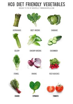 HCG diet friendly vegetables