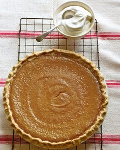 An easy Pumpkin Pie recipe. If you buy the crust (shhh) it's really just 4 ingredients plus spices.