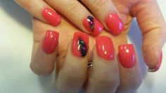 Colored acrylic nails by Hilary McIntyre. #acrylicnails #YoungNails #handpainted