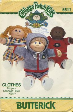 Vintage Doll Clothes Sewing Pattern | Cabbage Patch Kids® Clothes | Butterick 6511 | Year 1984 | One Size