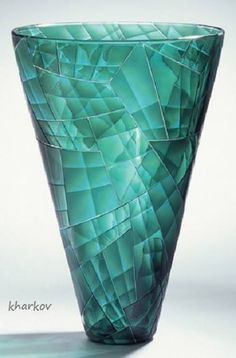 Bagley Glass Light Shade Turquoise Beautiful In Colour Pottery, Porcelain & Glass
