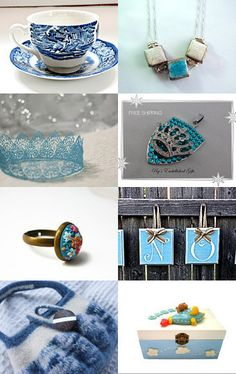 touch of blue by lechiffrejewels on Etsy--Pinned with TreasuryPin.com