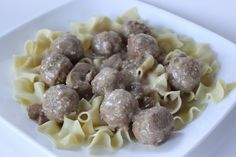Crockpot Swedish Meatballs  Have only had a chance to make this once but we both LOVED it!! Put it over egg noodles and it was great!