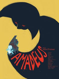 Just a bit of the process I did for a poster for the movie Amadeus in Jorge Montero's Type & Image class. Had not really made a poster bef. Minimal Movie Posters, Cinema Posters, Cool Posters, Oscar Winning Films, Design Poster, Poster Designs, Kunst Poster, Star Wars, Fan Art