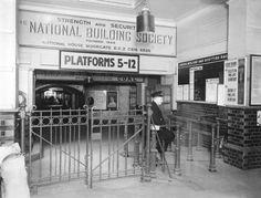 Ticket barrier at Watford Junction railway station, 1943 Building Society, Watford, Aeroplanes, British History, Asylum, Ticket, Trains, Boats, Destinations
