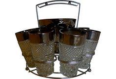 1970s Ice Water Caddy w/ Glasses, 10 Pcs on OneKingsLane.com