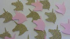 Unicorn Glitter Birthday Party table decor pink and Gold Unicorn confetti or Invitation scatter