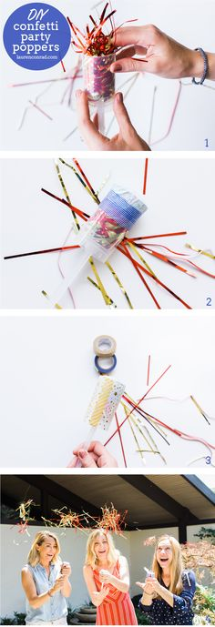 How to create your own confetti party poppers!