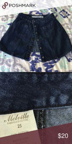 Brandy Melville skirt Dark blue, brandy Melville skirt, size 25, two pockets, worn once Brandy Melville Skirts