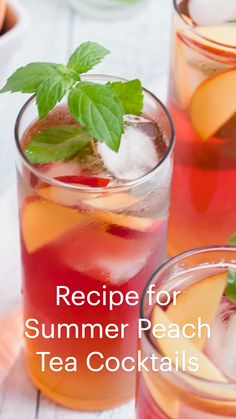 Fruit Drinks, Non Alcoholic Drinks, Cocktail Drinks, Cocktail Recipes, Bbq Drinks, Iced Tea Cocktails, Pitcher Drinks, Mexican Drinks, Easy Cocktails