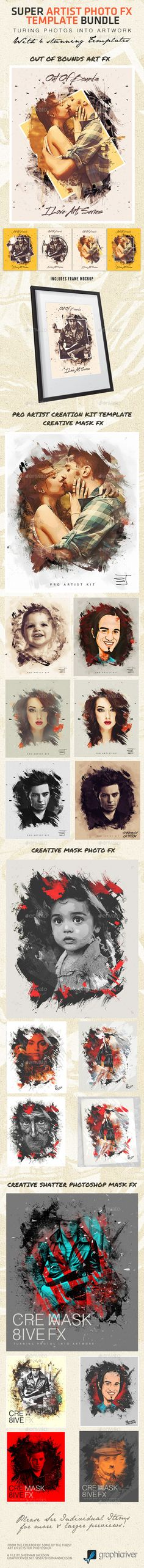 Super Artist Photo FX Template Bundle (Artistic)