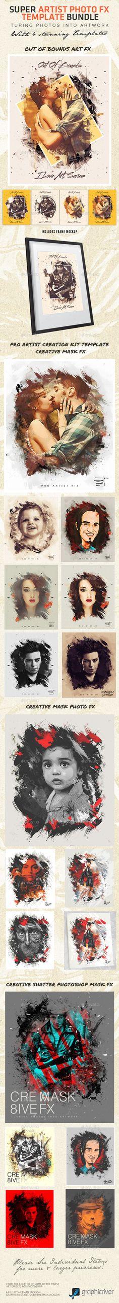 Super Artist Photo FX Template Bundle (Artistic)