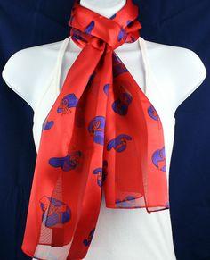 New Red Hat Womens Society Scarf Ladies Purple Hats Satiny Scarfs Ladies Scarves #TiesJustForYou #Scarf