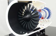 3Dプリンタとメカニカル部品で造ったジェットエンジン模型