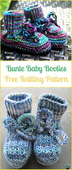 Knit Bunte Baby Booties Free Pattern - Knit Slippers Booties Free Patterns