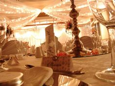 Table settings in Banhoek, one of the Riviera on Vaal Hotel's venues. Wedding Ceremony, Wedding Venues, Reception, Real Weddings, Table Settings, Table Decorations, Home Decor, Wedding Reception Venues, Decoration Home