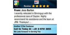 I recently relocated in Binningup with the professional care of Clayton. Highly recommend...