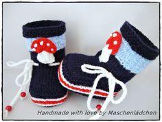 Strick- & Häkelschuhe - Babystiefel   Babyschuhe - ein Designerstück von Maschenlaedchen bei DaWanda