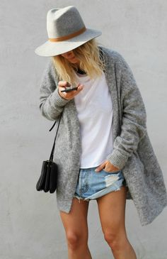 Amp up your fall look with an oversized cardigan.