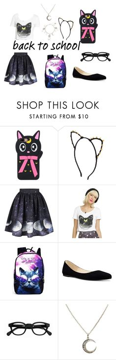 """""""Geeky Cute"""" by mikukitsune ❤ liked on Polyvore featuring Cartoon Network, WithChic, Nine West and See Concept"""