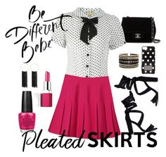 Pleated Skirts by lacehearts58 on Polyvore featuring polyvore, fashion, style, WithChic, Chanel, Bebe, Eloquii, MICHAEL Michael Kors, Clinique, OPI, clothing and pleatedskirts