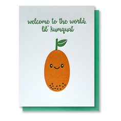 Cute Fun Letterpress Welcome to the World Lil by kissandpunch