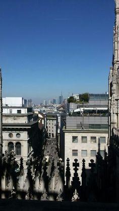 Blick von der Dachterrasse vom Dom