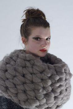 Natasha Jackson, Peeping Goat Wool Snood | Chunky knits for winter - or now!