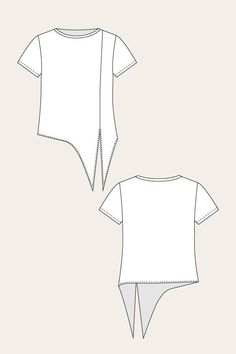 Selja Knot Tee - Named Source by pongenramok . - Selja Knot Tee – Named Source by pongenramok … - Sewing Shirts, Sewing Clothes, Diy Clothes, Fashion Sewing, Diy Fashion, Ideias Fashion, Fashion Trends, Dress Sewing Patterns, Clothing Patterns