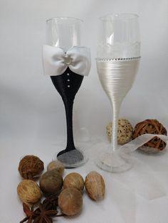 Copas de boda por ArtesaniaCaladra en Etsy