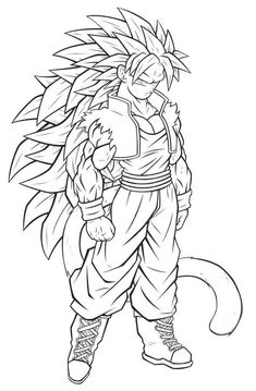 Dragon Ball Coloring Pages Goku | Coloring Pages | Pinterest | Goku ...