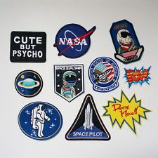 Embroidery NASA Planet Star Sew Iron On Patch Badge Bag Fancy Dress Applique UK