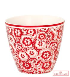 Greengate latte cup Selma red