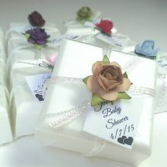 32 unico Bomboniere - bomboniera saponi - Tan Brown - baby shower favori degli ospiti - scegliere il proprio colore di sapone