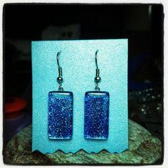 Blue Glitter earrings by Kate
