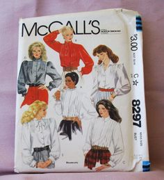 1982 Uncut  McCalls Pattern 8297  Misses  by lovelylovepatterns, $4.00