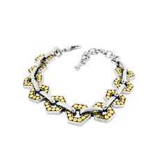MODELO: B-MXPU1450 PZA: Pulsera DESCRIPCION: Pulsera con baño de rodio y oro. #joyería #pulsera #fashion #followus #bracelet. Buy it on https://www.kichink.com/buy/501809/zienabisuteria/b-mxpu1450?byp455=true#.VP9oKr5Z9ao