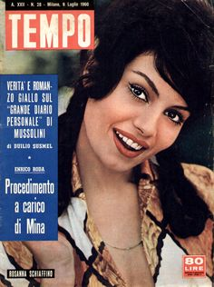 Movie star Rosanna Schiaffino (9th July 1960).