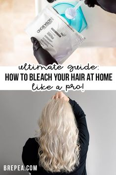 Ultimate Guide: How to Bleach Your Hair at Home Like a Pro - Platinum Blonde Hair Dying Hair At Home, At Home Hair Color, Dying Your Hair, Color Your Hair, How To Blonde Hair At Home, Hair Colour, Dying Hair Blonde, Bleach Blonde Hair, Honey Blonde Hair