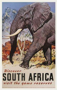 Vintage Travel Poster South Africa