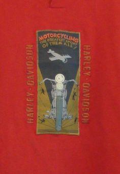 Harley-Davidson Vintage Advertisement sz XL Red L/S T-Shirt #HarleyDavidson #GraphicTee
