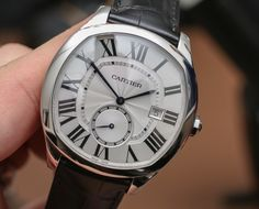 """#SIHH2016: Cartier Drive De Cartier Watch Hands-On - by Bilal Khan - see & read about all 3 models in the new line, including the flying tourbillon & """"small complication"""" on aBlogtoWatch.com """"For fans of Cartier who happen to be guys, this watch has been a long time coming. Don't get me wrong, Cartier makes a host of men's watches, but the Cartier Drive de Cartier watch is a piece that I could confidently say is a watch by the brand that can successfully broaden the brand's appeal...""""…"""